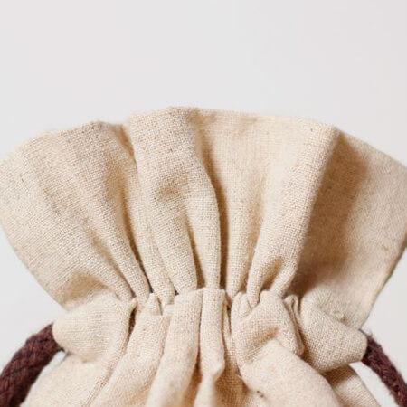 Linen bag round bottom rice wheat bag 4