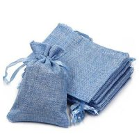 Linen jewelry pouch with drawstring 1