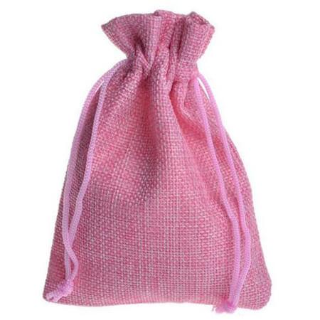 Natural linen drawstring gift bags 3