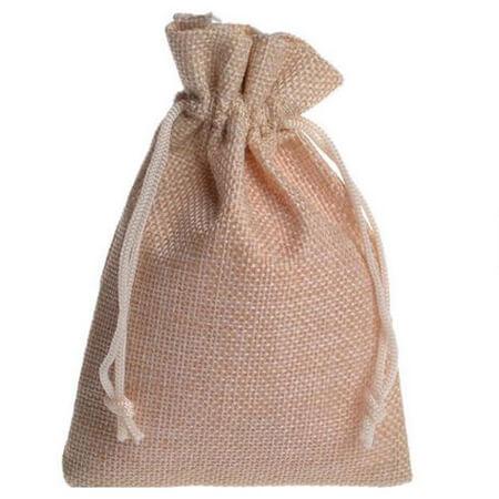 Natural linen drawstring gift bags 4