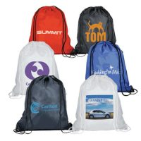 Non woven drawstring sports backpack bag 1