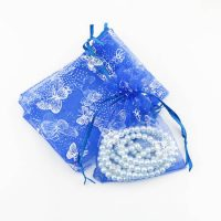 Organza bag with printed butterfly 1