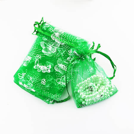 Organza bag with printed butterfly 3