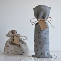 Personalize linen wine bag 1
