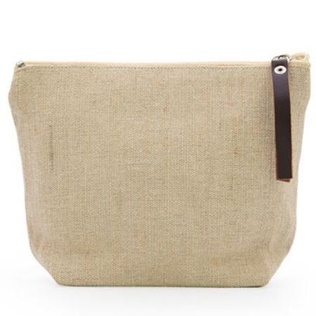 Plain linen fashion travel cosmetic bag 3