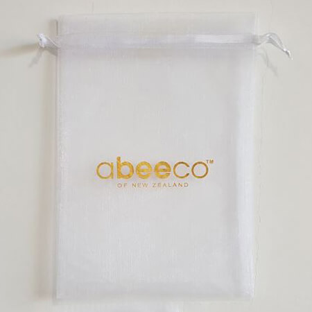 Printed organza gift bag with logo 2