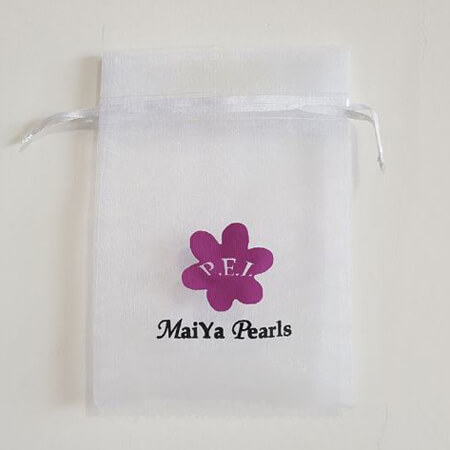 Printed organza gift bag with logo 3