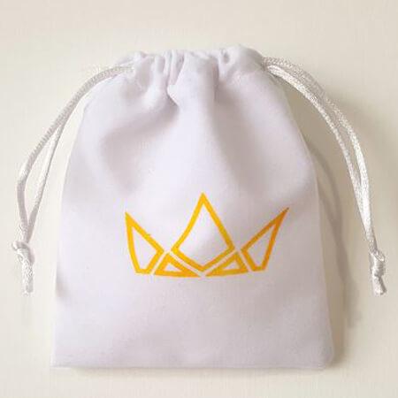 Promotional custom velvet drawstring pouch 3