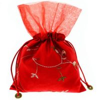 Satin bag with custom embossing 1
