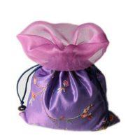 Satin bag with custom embossing 2