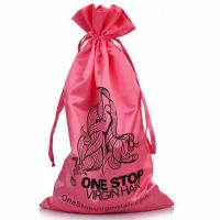 Satin drawstring pouch for Hair Extensions 1