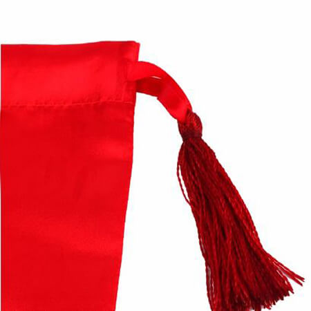 Satin pouch with tassels 2