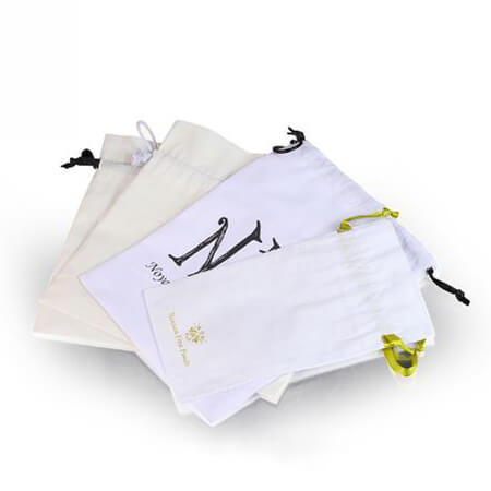 White cotton gift bags with printed logo 2