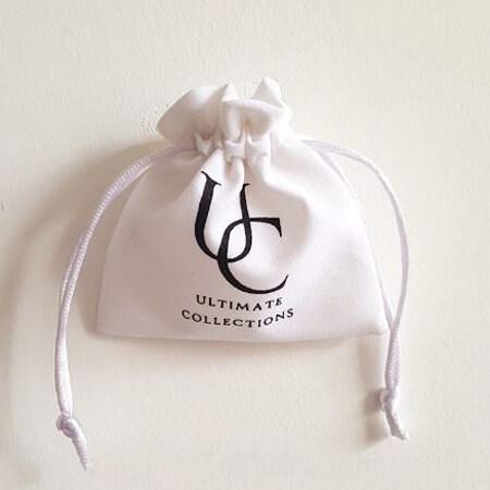 White velvet jewelry pouch custom logo 4