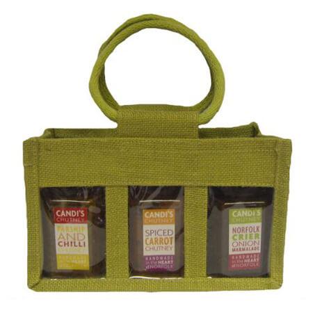 3 Jar jute bag with PVC window 2