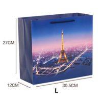 Custom Eiffel Tower garment bag 2