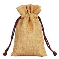 Custom design jute tea gift bag 2