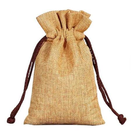 Custom design jute tea gift bag 2
