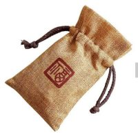 Custom design jute tea gift bag 3