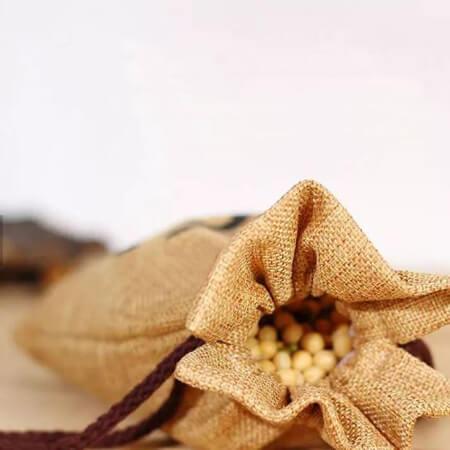 Custom design jute tea gift bag 4