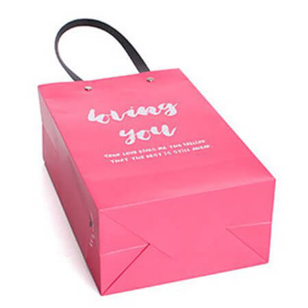 Glossy red packaging paper bag 3