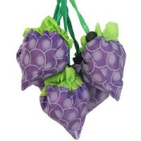Grape shape foldable polyester drawstring bag 1