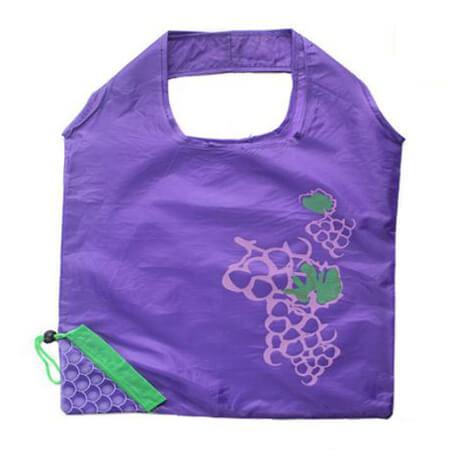 Grape shape foldable polyester drawstring bag 2