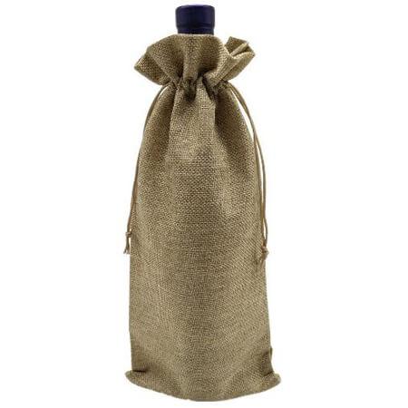 Jute burlap wine bags 1
