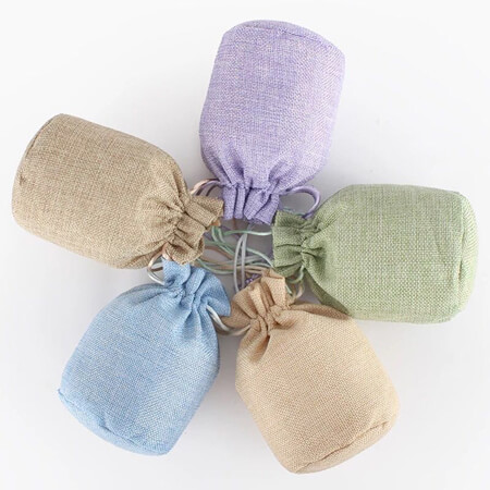 Jute drawstring pouch candy bags 1