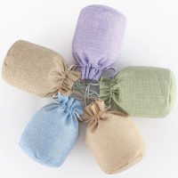 Jute drawstring pouch candy bags 4