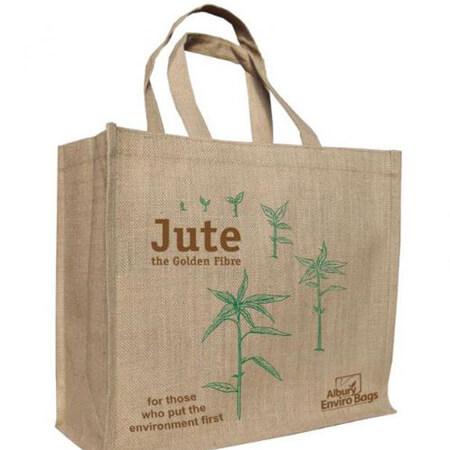 Jute supermarket shopper bag 1
