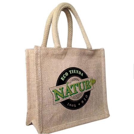 Jute supermarket shopper bag 2