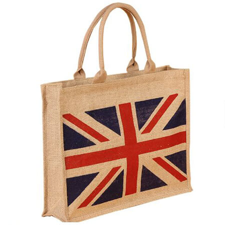 Jute tote bag with zipper 1