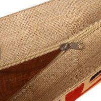 Jute tote bag with zipper 2