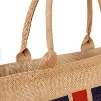 Jute tote bag with zipper 3