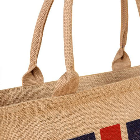 Jute tote bag with zipper 3