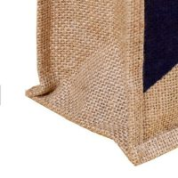 Jute tote bag with zipper 4
