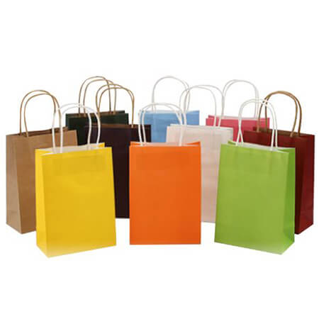 Kraft paper bag with twisted handles 1