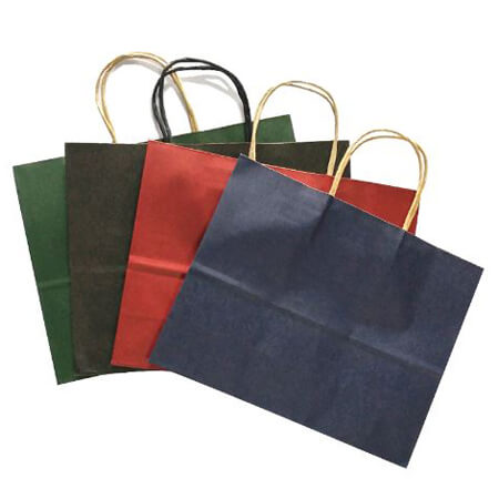 Kraft paper bag with twisted handles 2