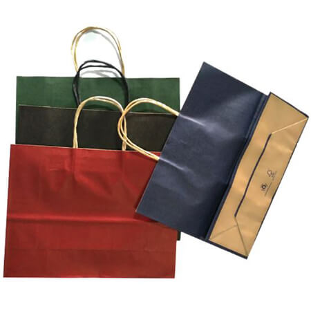 Kraft paper bag with twisted handles 3