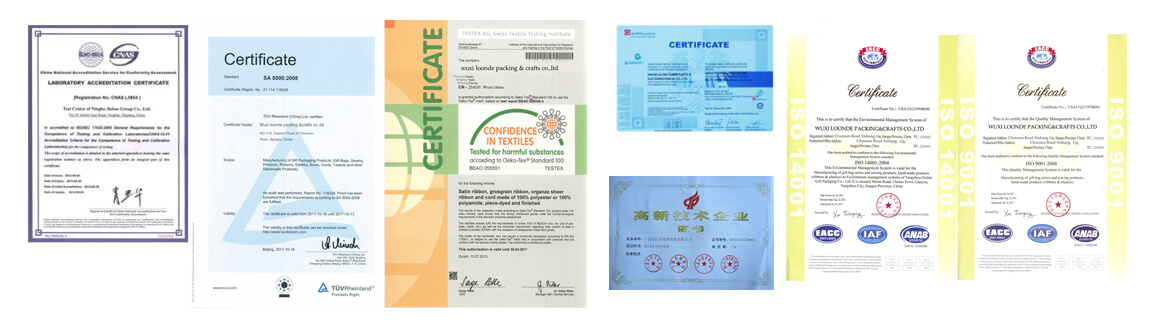 Laraty Packing Certifications