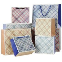 Recycled grid gift bags 1