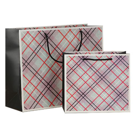 Recycled grid gift bags 2