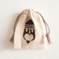 Small jute bags with logo 1