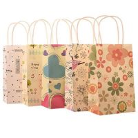 Small printing flower paper shopping bags 1
