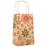 Small printing flower paper shopping bags 2