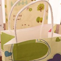 Small printing flower paper shopping bags 4