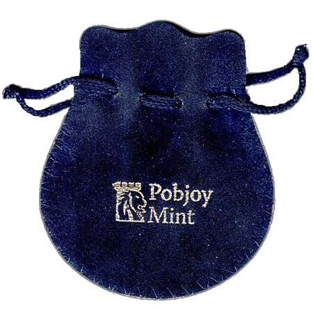 Bell shape drawstring velvet pouch 1