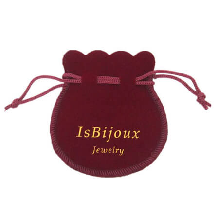 Bell shape drawstring velvet pouch 4