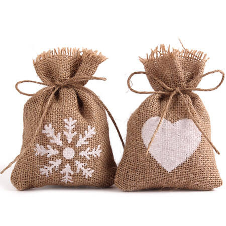 Burlap bags wedding favor candy pouch 1